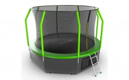 Батут EVO Jump Cosmo 12ft (Green) + нижняя сеть